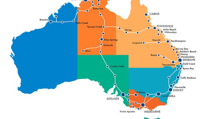 Greyhound Usa Map.Greyhound Australia Bus Pass In Australia Kilroy