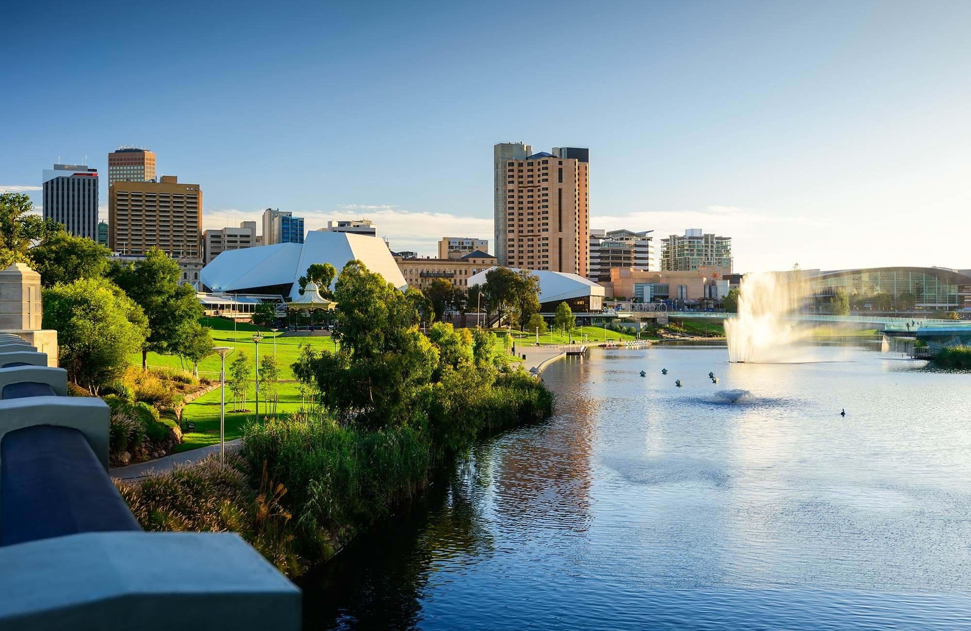 enjoy the skyline of adelaide while you study in south australia