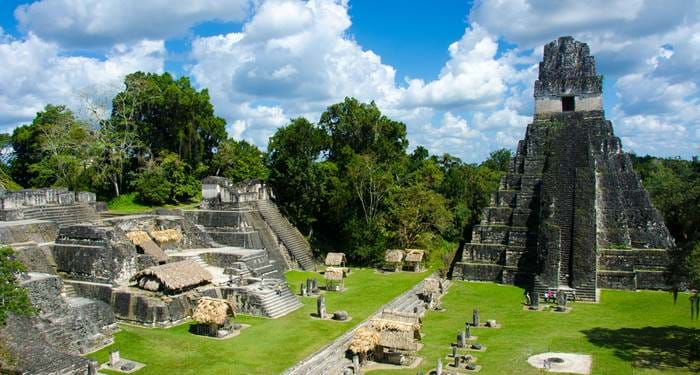 Visit the Tikal ruins when you're traveling through Guatemala