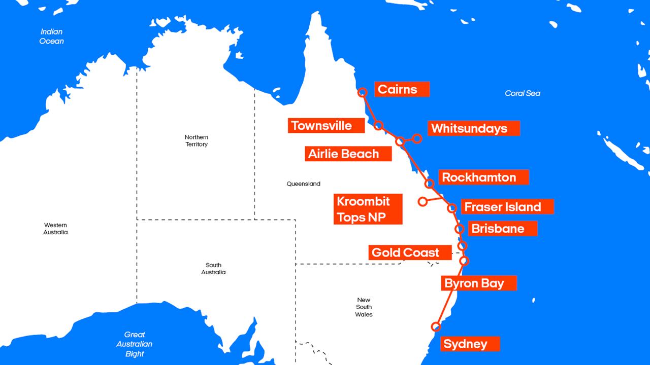 East Coast Australia Map Detailed.Top 10 Punto Medio Noticias Road Trip East Coast Australia Itinerary