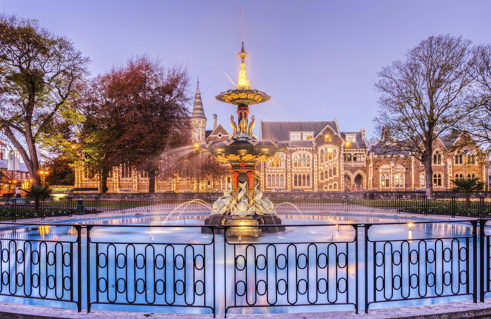 fountain in christchurch