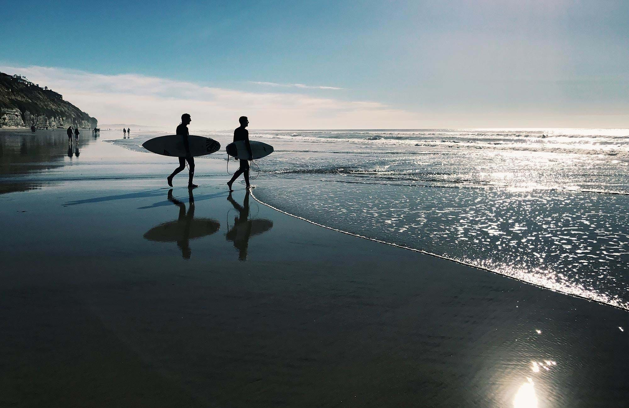 north-america-usa-san-diego-surfers-ocean