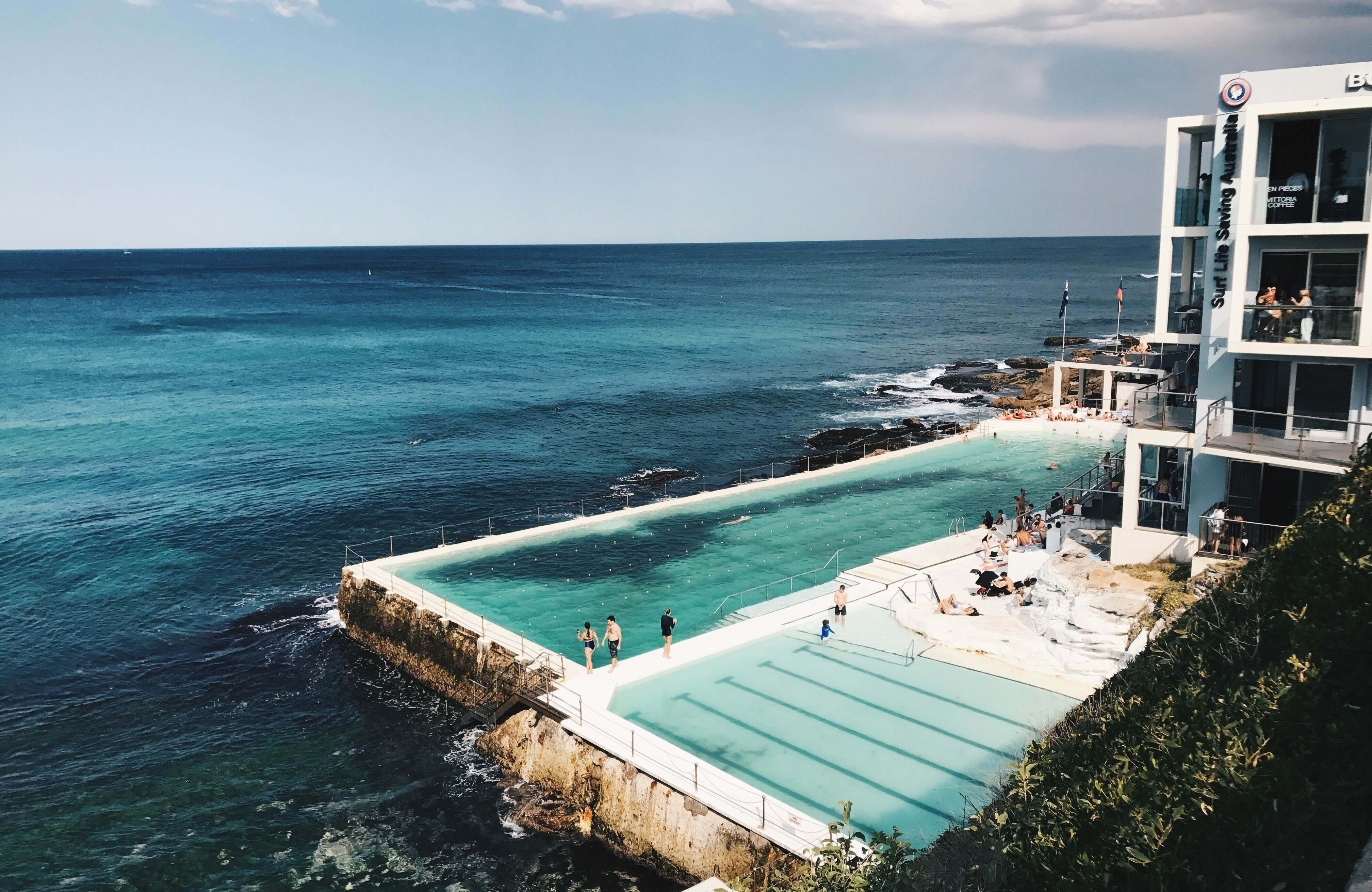 visit the outdoor pool during your studies in sydney