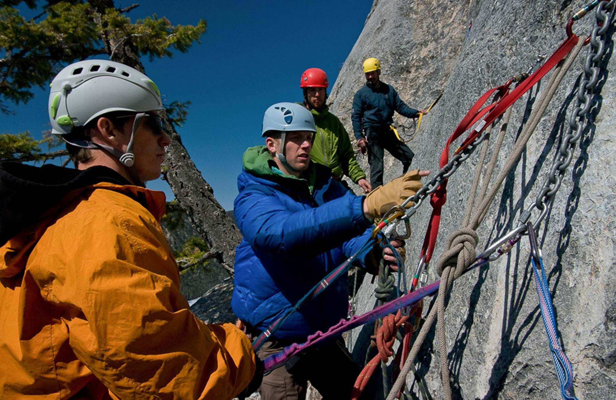 Students climbing in Canada