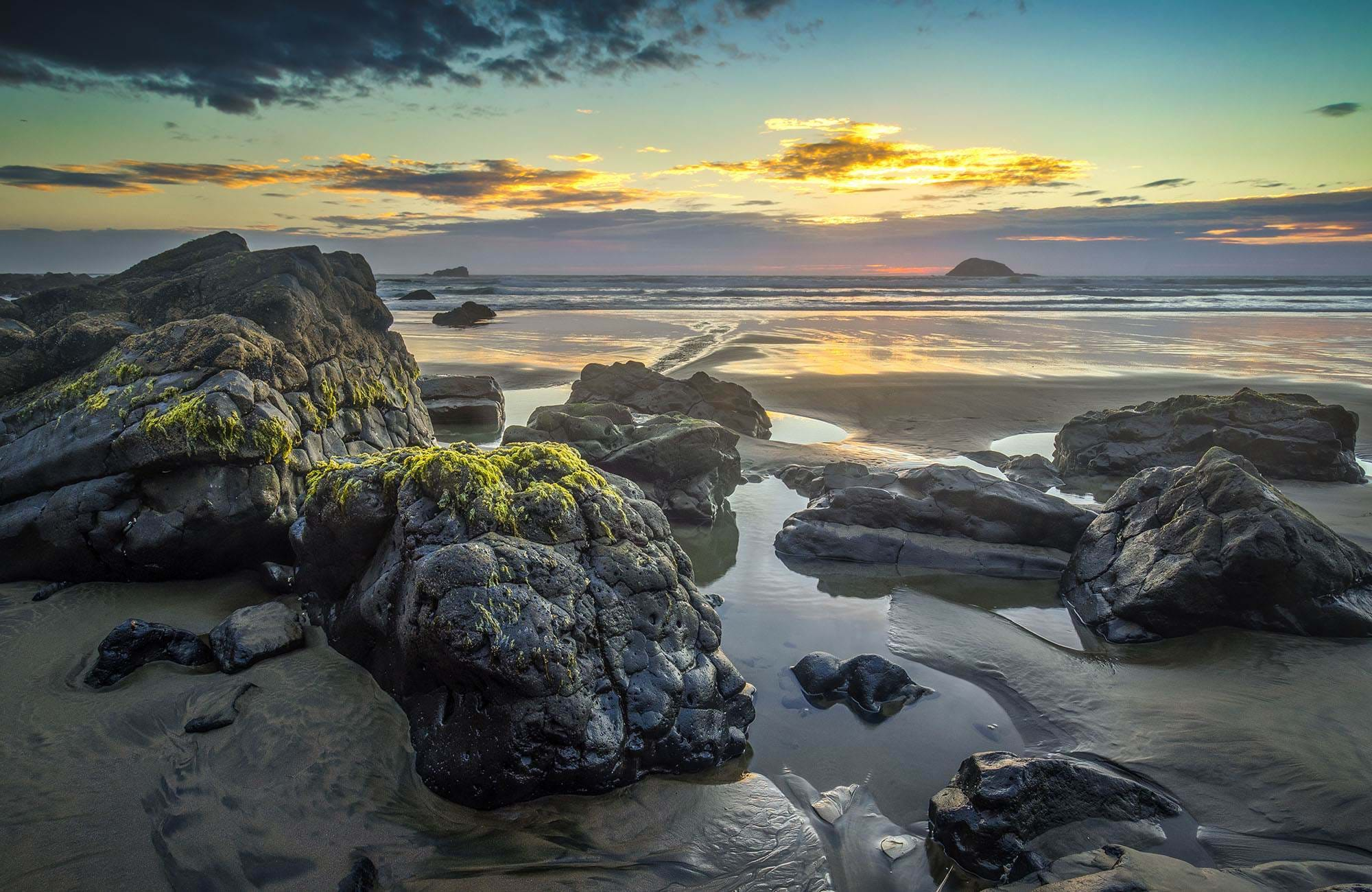 Maori bay cover in New Zealand