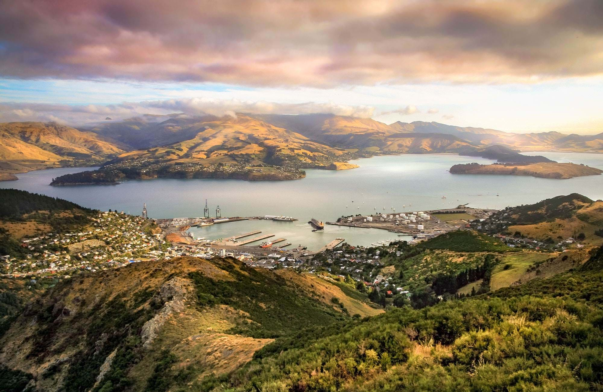 enjoy the view over christchurch while studying in New Zealand