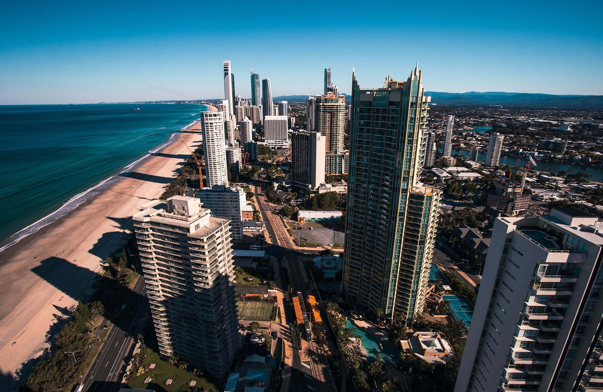The Gold Coast seen from above