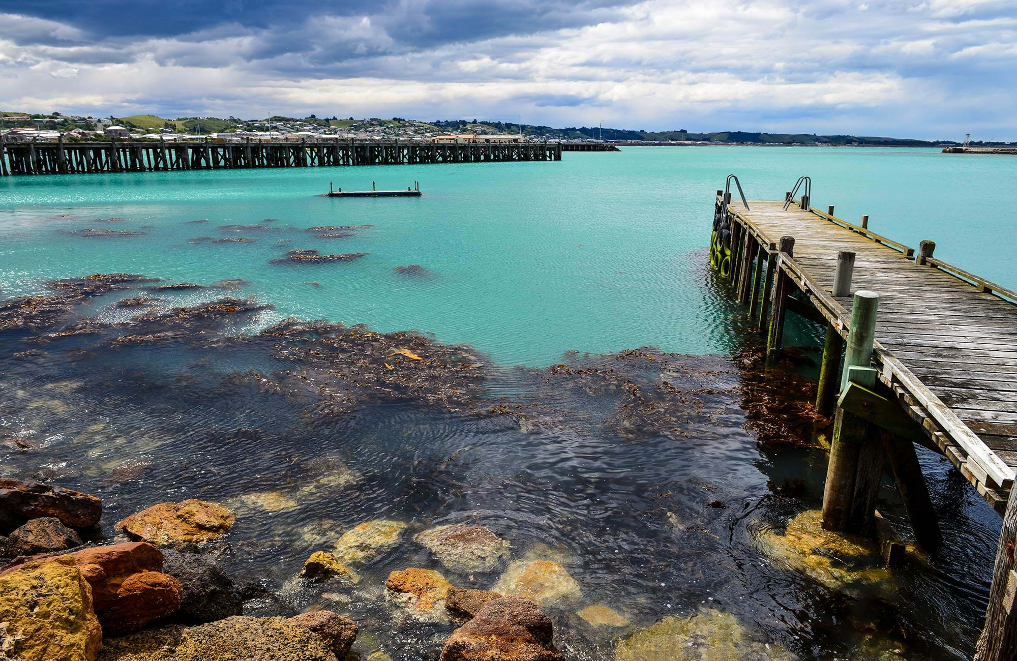 Oamaru Harbor in New Zealand