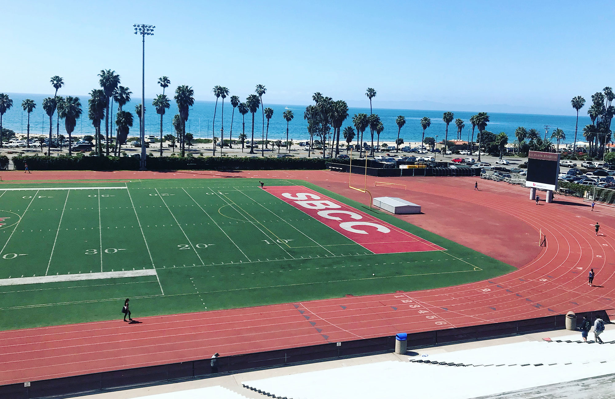sports field at santa barbara city college