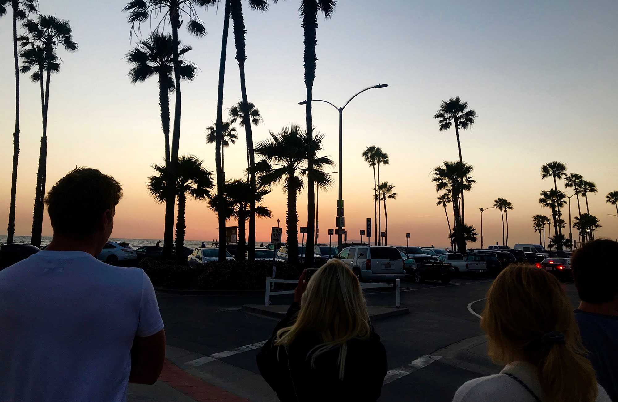 sunset at santa barbara city college