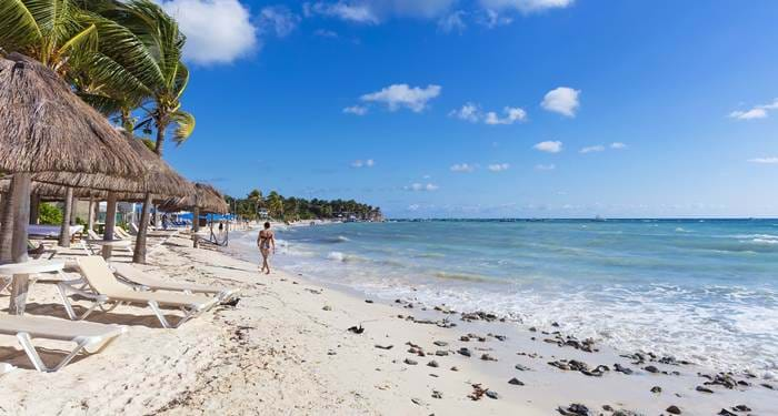 Playa del carmen is the first stop on your round trip