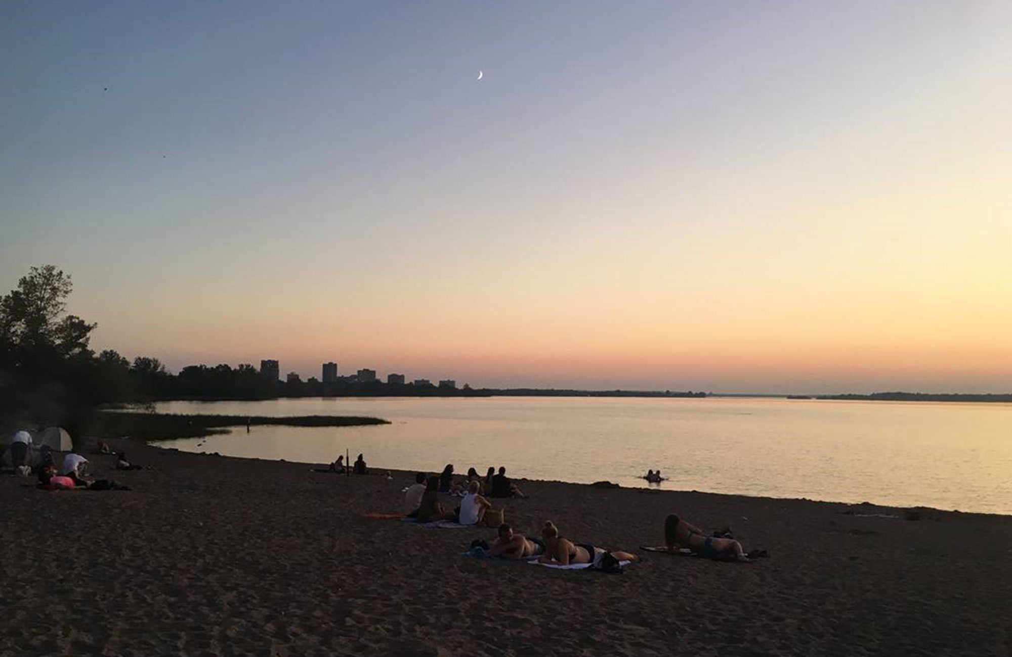 beach in Ottawa not far from Carleton University