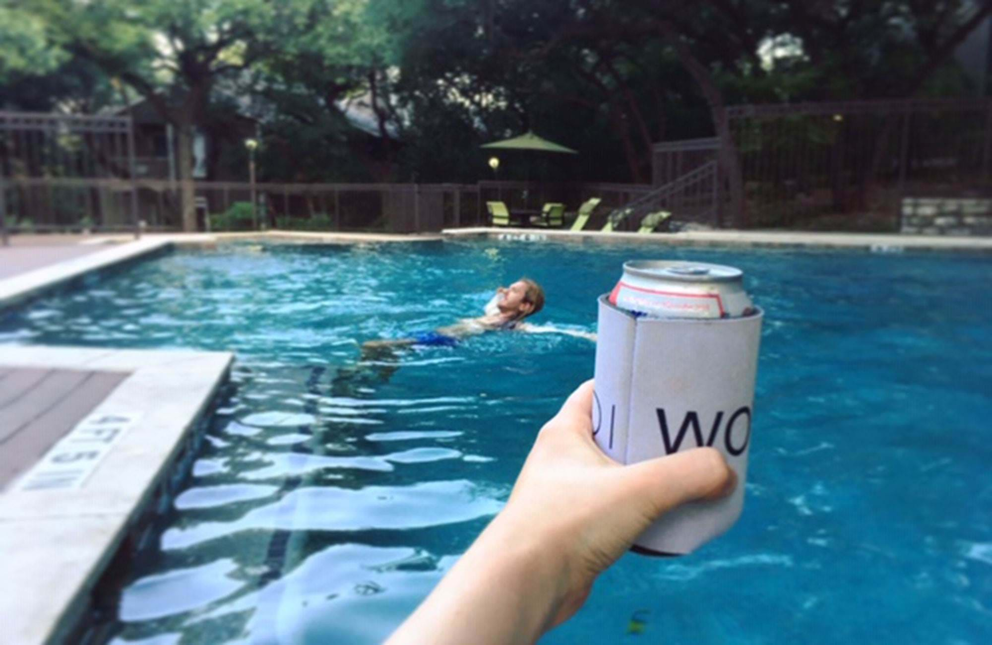a drink by the pool in austin in texas
