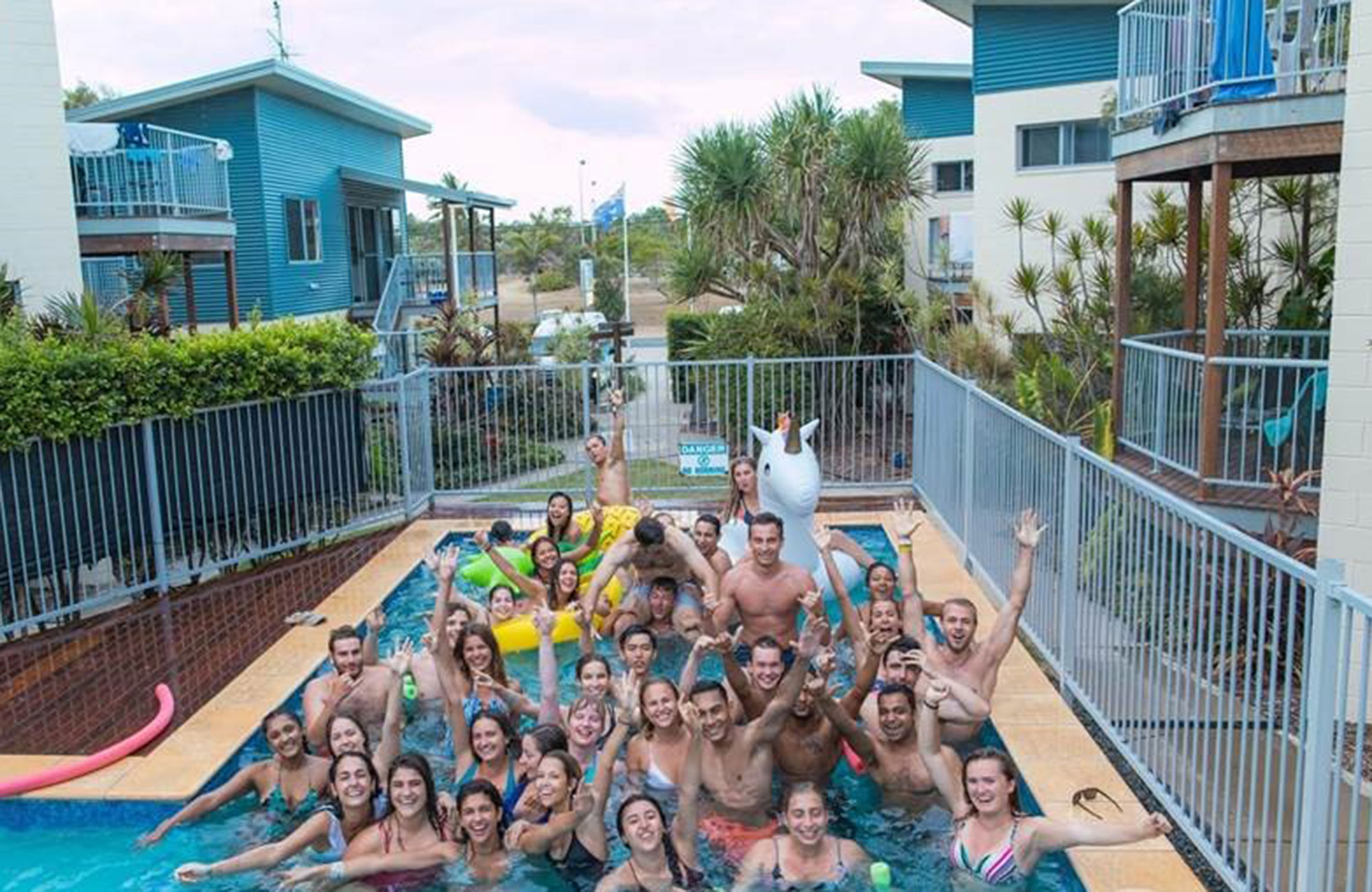 ida and her friends have a pool party in Australia