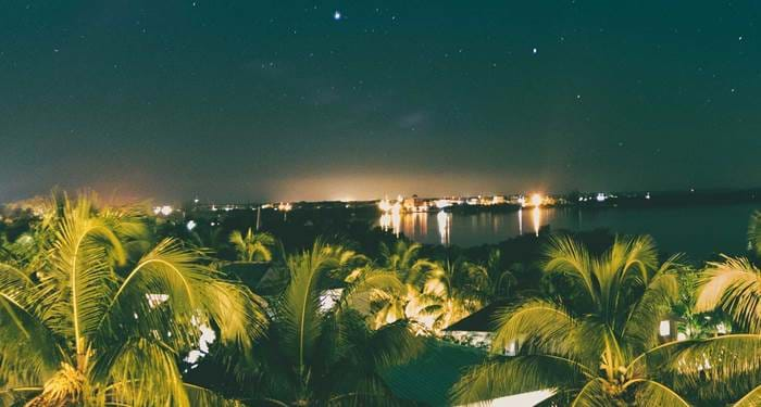 Belize by night is a beautiful sight