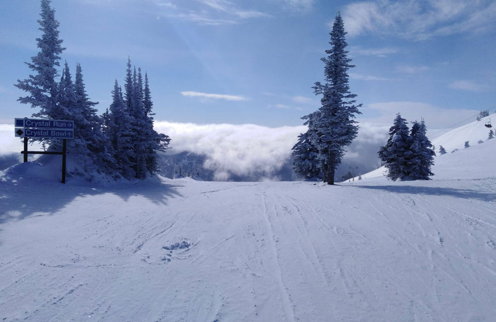 ski piste in british columbia in canada