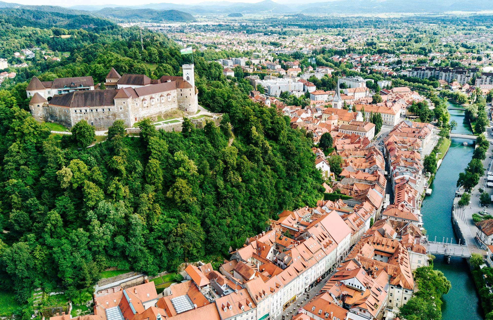 Enjoy the view of Ljubljana from above