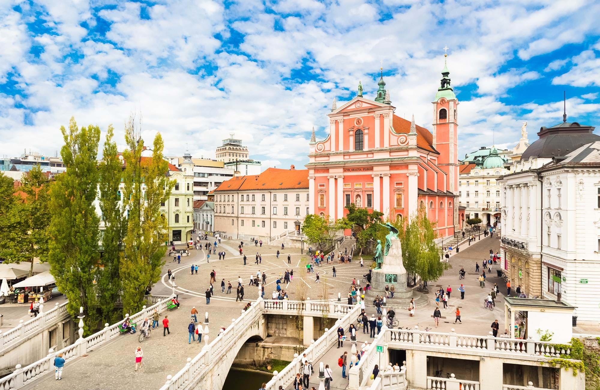 Explore the old cathedral of Ljubljana
