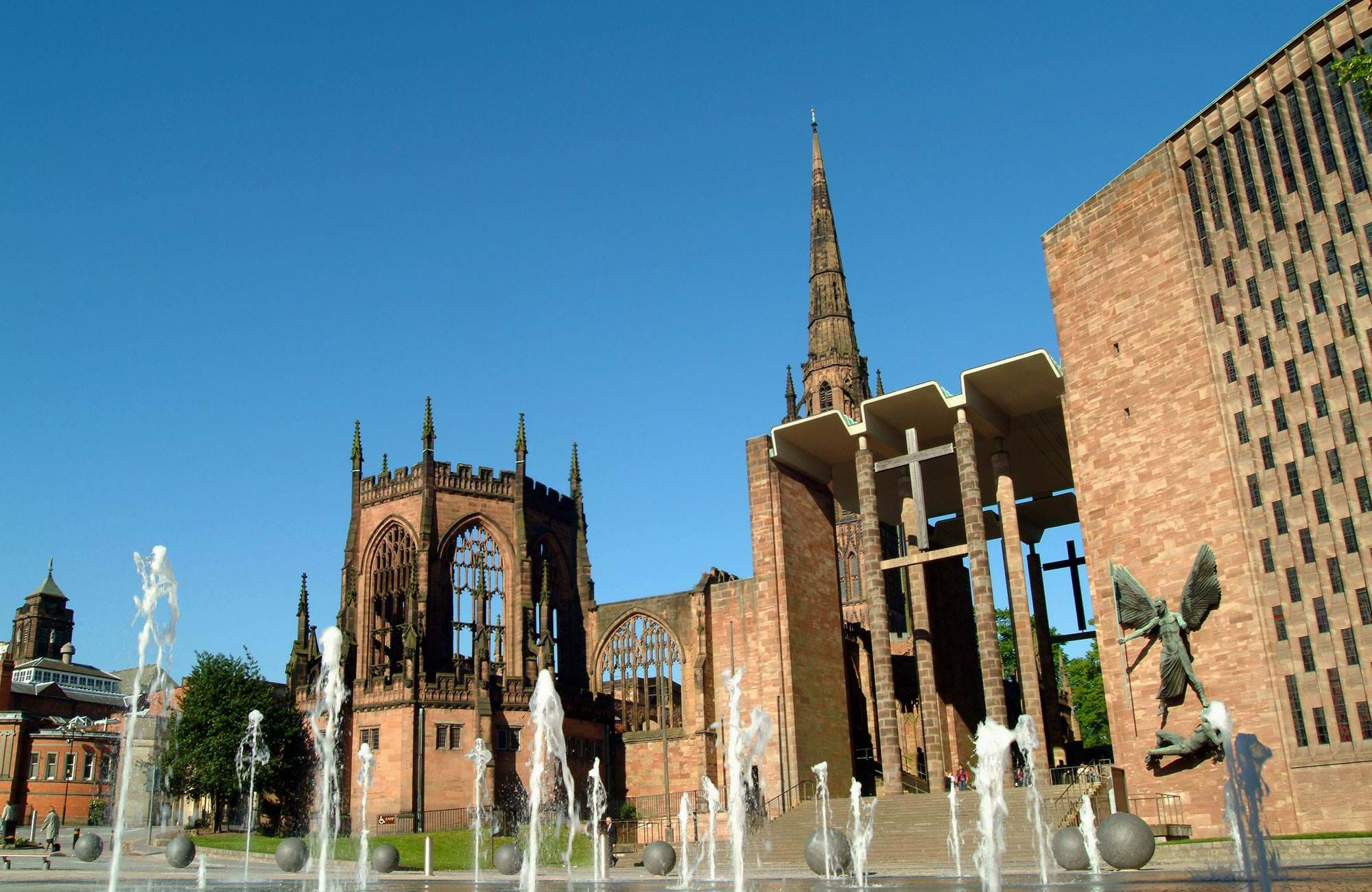 see old buildings while studying at Coventry University