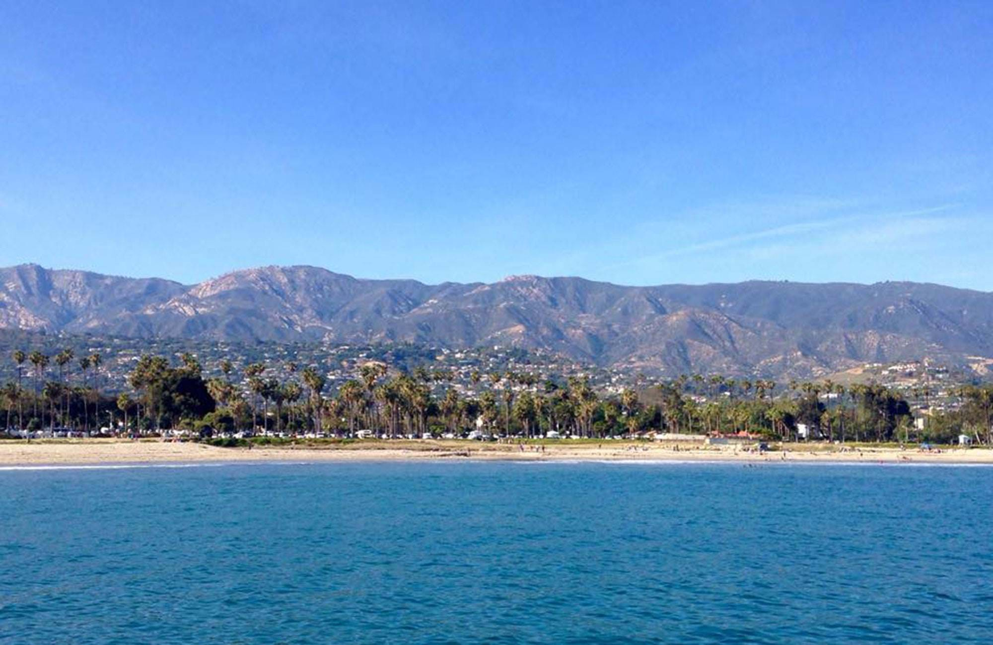 beach view at santa barbara city college