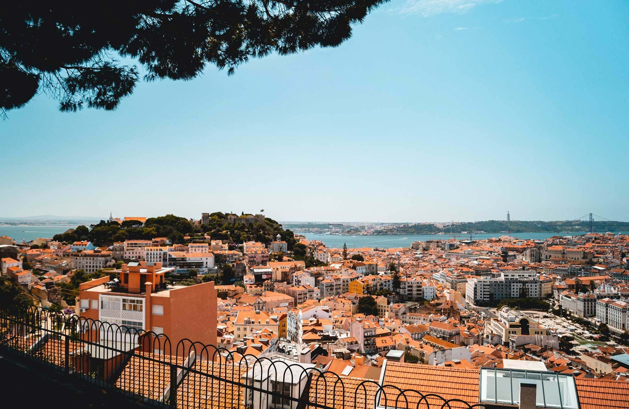 Portugal Lisbon City From The Rooftops
