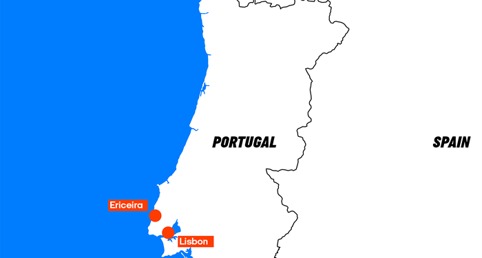 Map over your round trip in Portugal